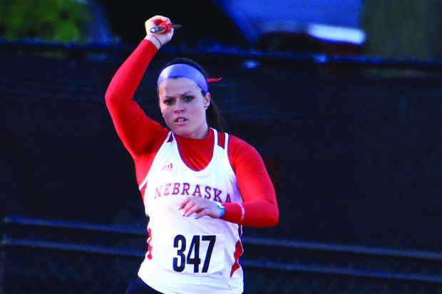 Sarah Firestone throws javelin