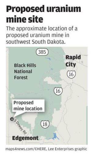 Map: Proposed uranium mine