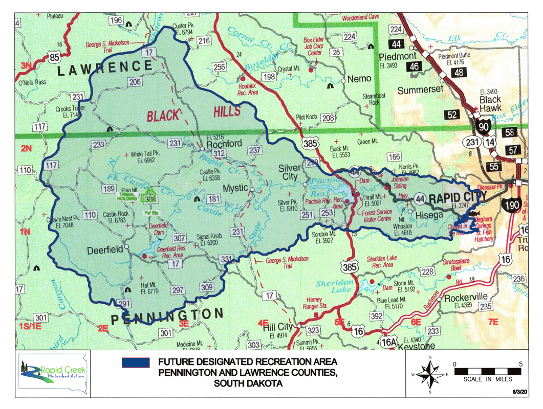 Map of proposed Rapid Creek Recreation Area