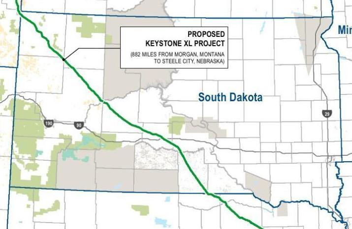 Keystone XL route