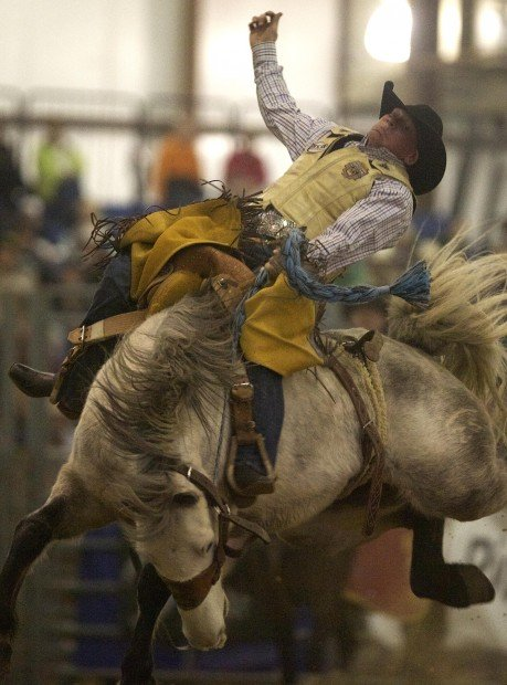 Top Hands In Saddle Bronc Riding At The Stock Show Rcj