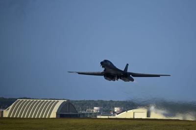 U.S. Air Force bombers take off from Andersen AFB