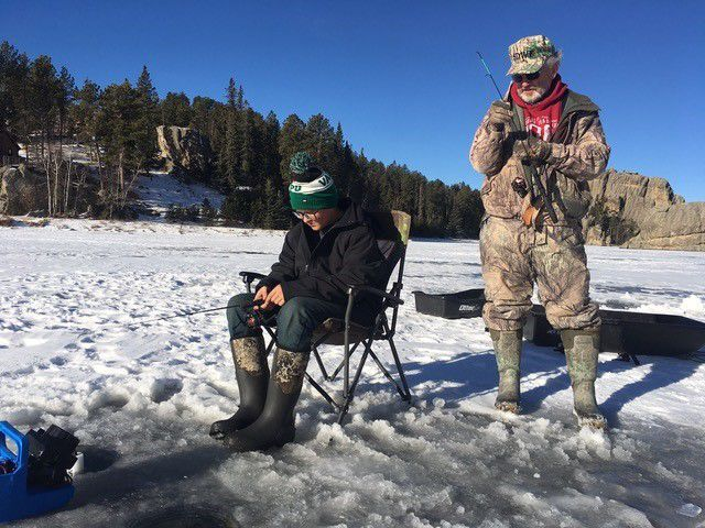 Kevin ice fishing 1