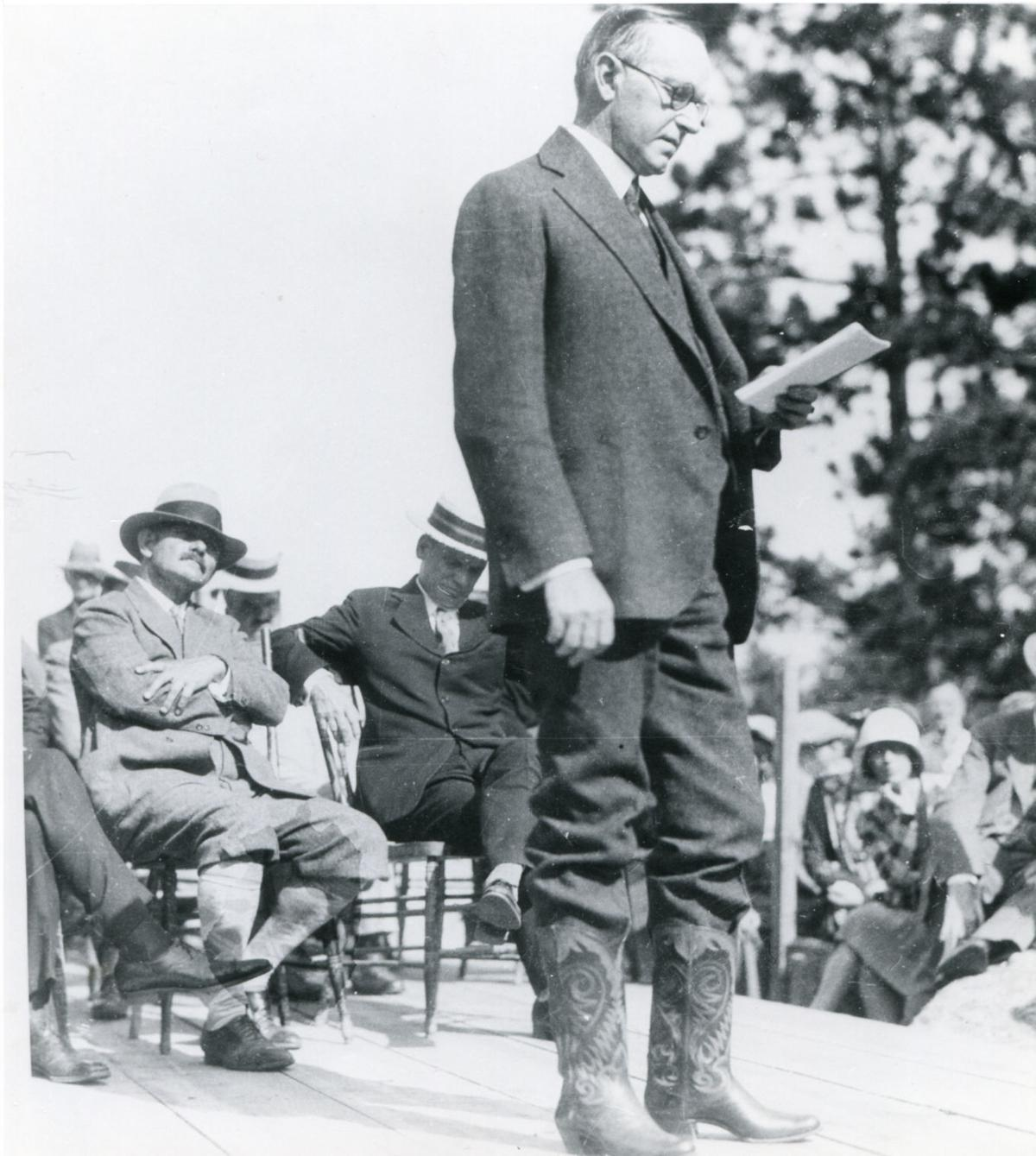 Calvin Coolidge at Mount Rushmore