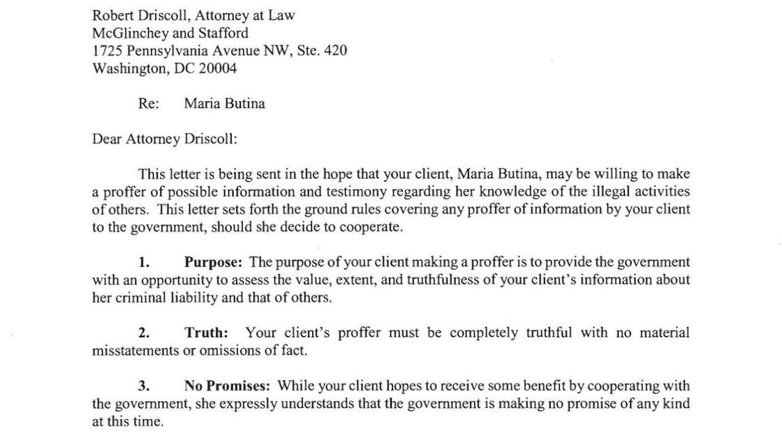 Proposed Proffer Agreement For Maria Butina Rapidcityjournal