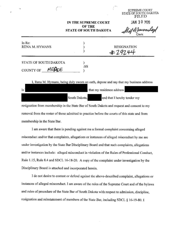 Resignation, disbarment