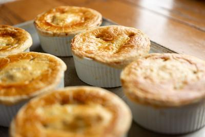 Please your picky eaters with individualized chicken pot pies