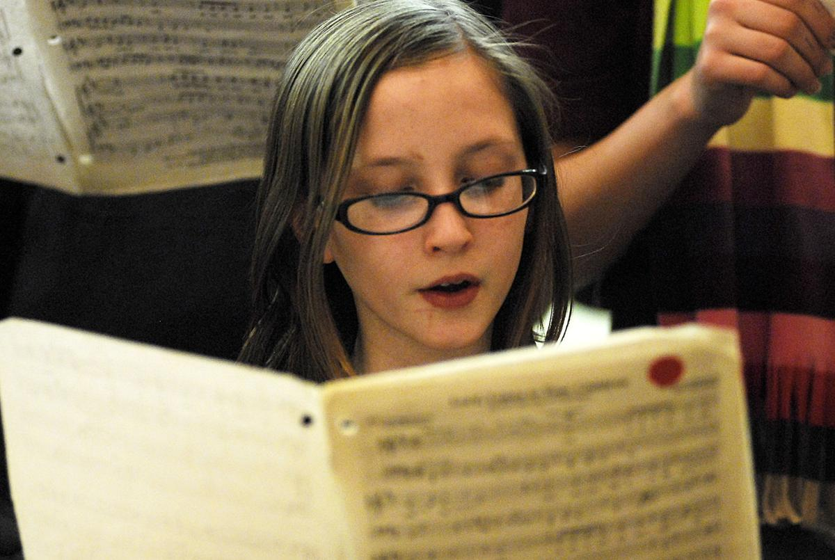 Children offer sounds of the season