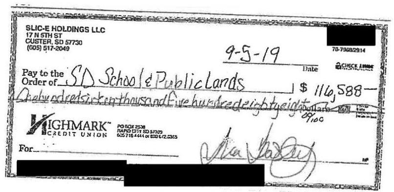 Bounced check from SLIC-e