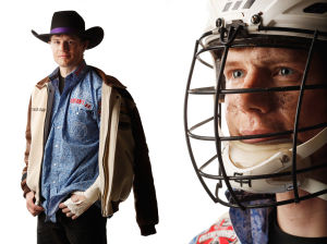 Too macho to wear a helmet? More rodeo riders wearing protective head wear