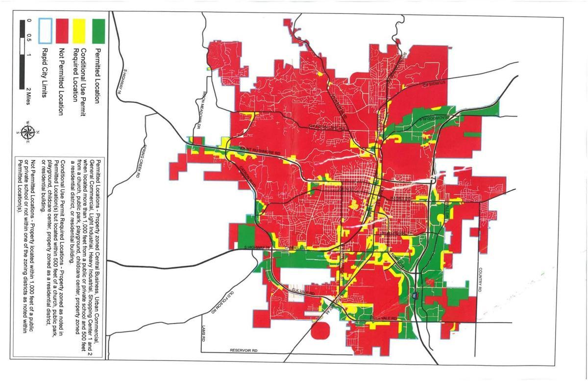 City Dispensary zoning map