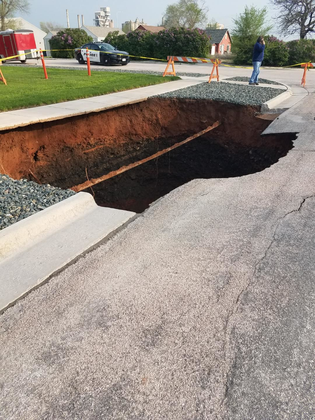 Sink hole opens in west end
