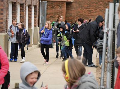 Students leave school