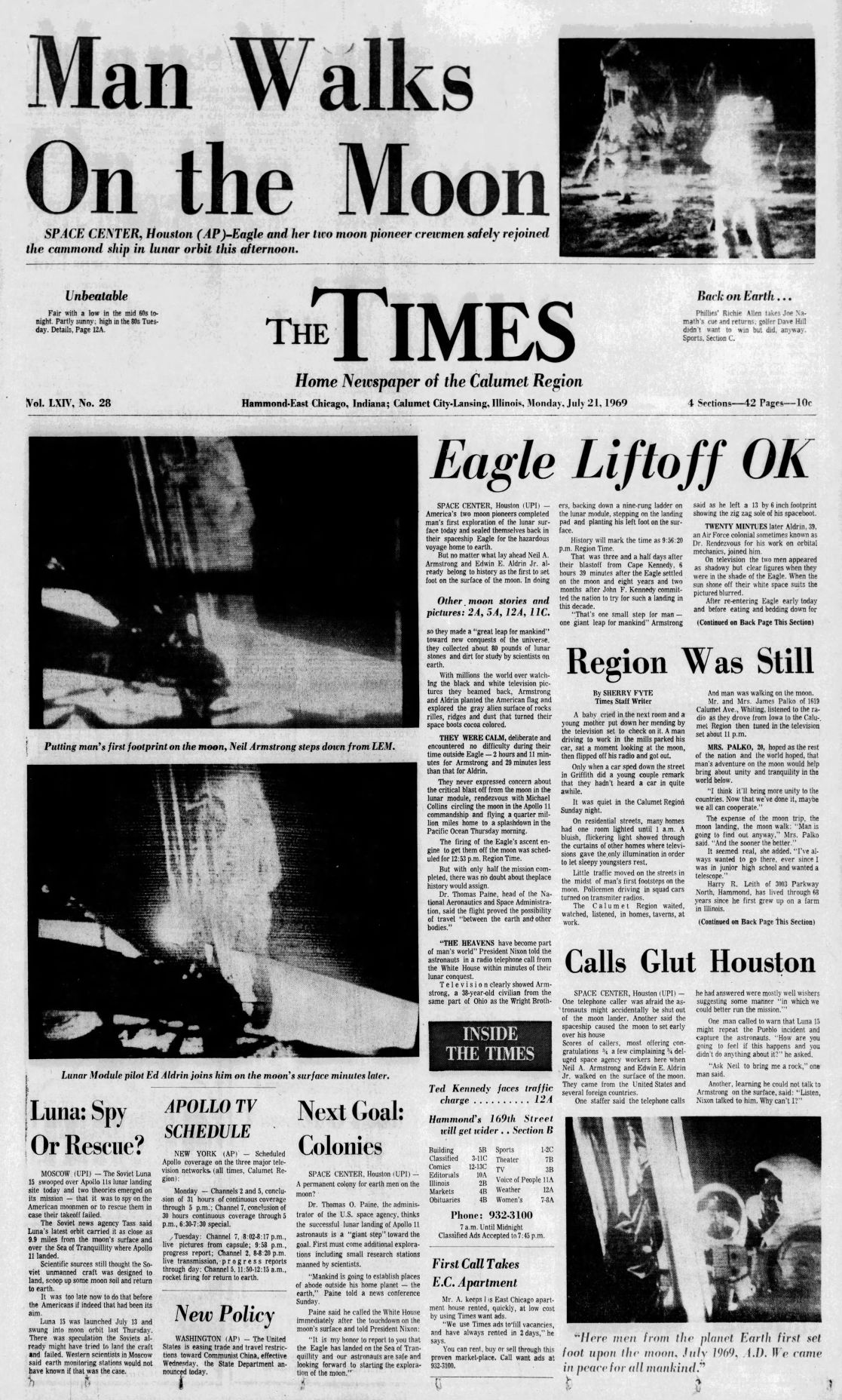 Headlines: Apollo 11 Moon Landing | Archives