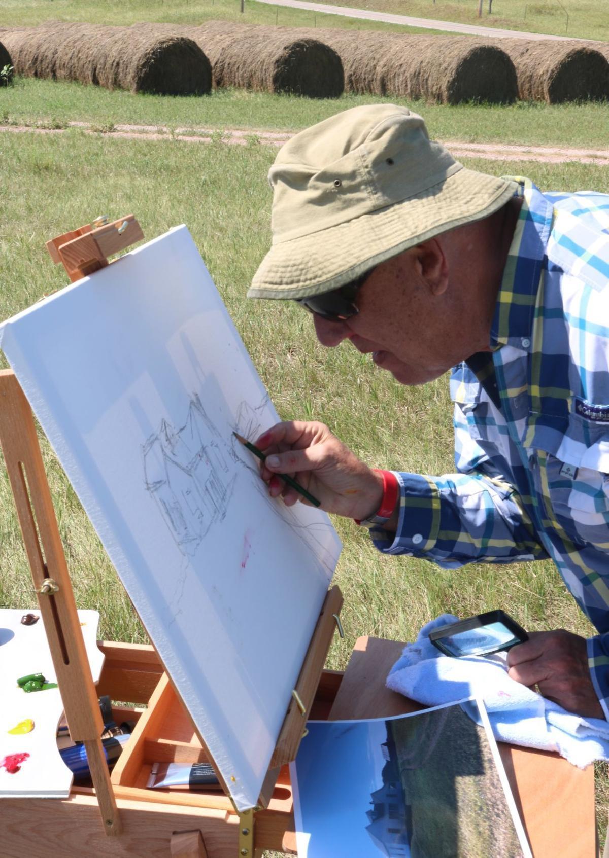 Wally Evans sketching