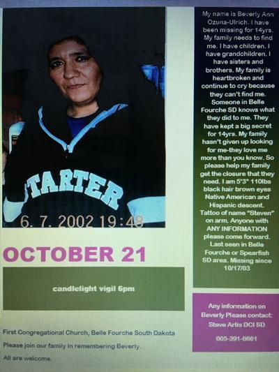 Beverly Ozuna Ulrich is still missing