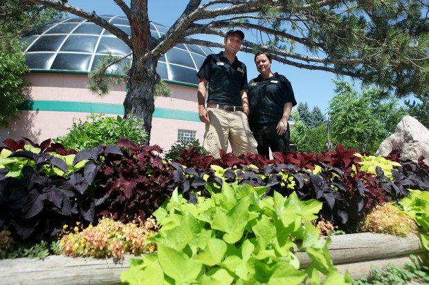 Reptile Gardens boasts a wide variety of tropical plants and trees ...