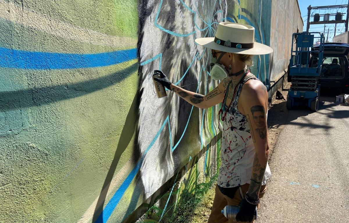 Grow Love painting mural