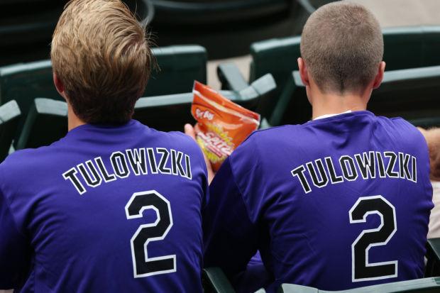 Fans wear misspelled tshgirts of Troy Tulowitzki
