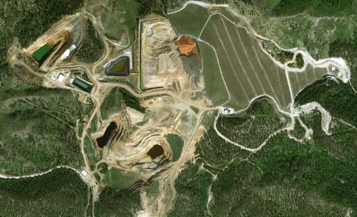 Gilt Edge Mine aerial