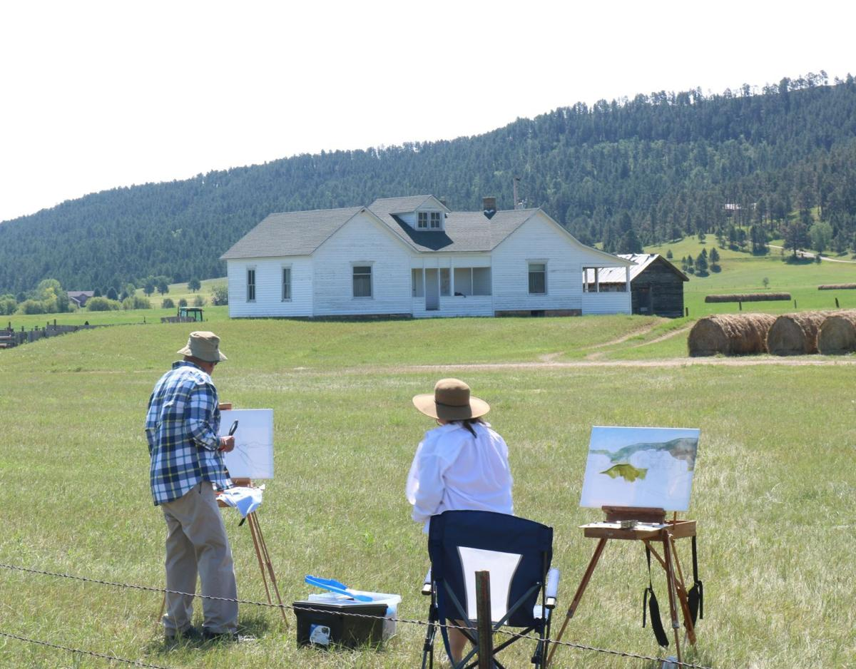 Evans and Leonard painting