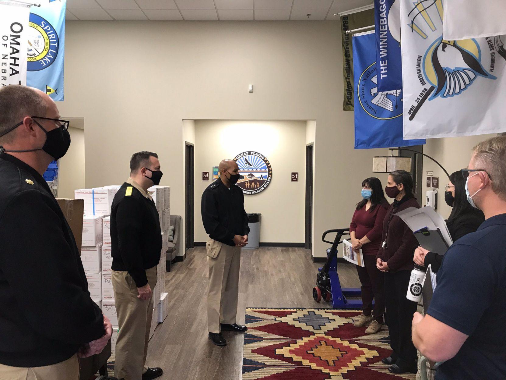 U S Surgeon General Visits South Dakota To Set Up Covid 19 Surge Testing Site Local Rapidcityjournal Com