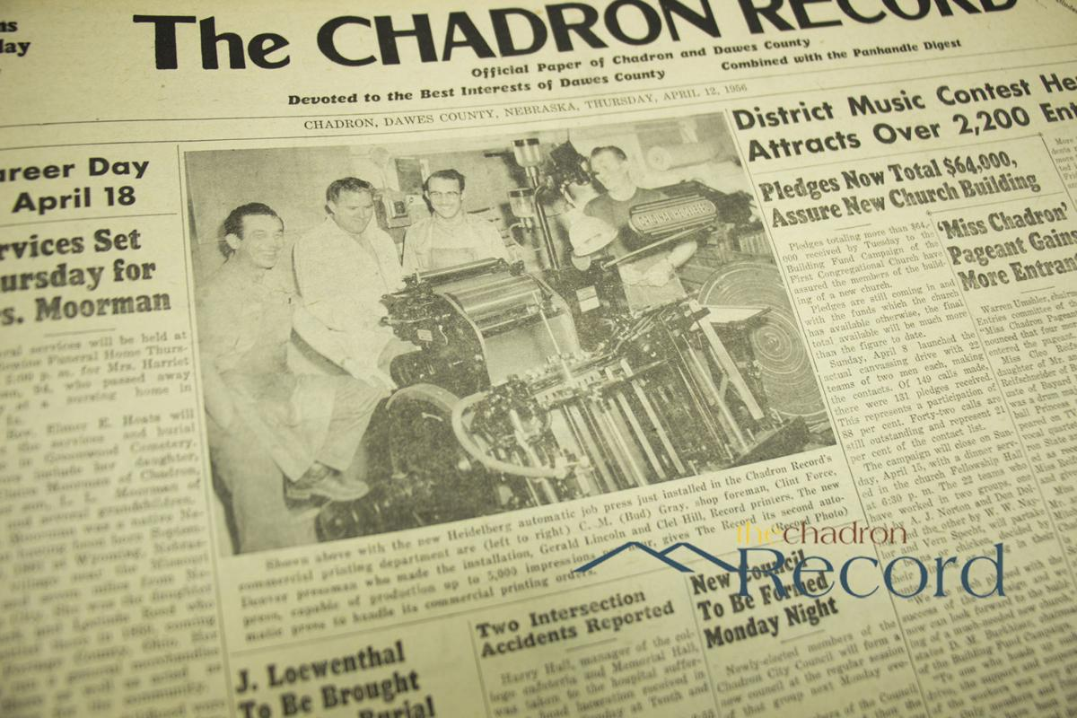 From the Archives - April 12, 1956 - The Chadron Record