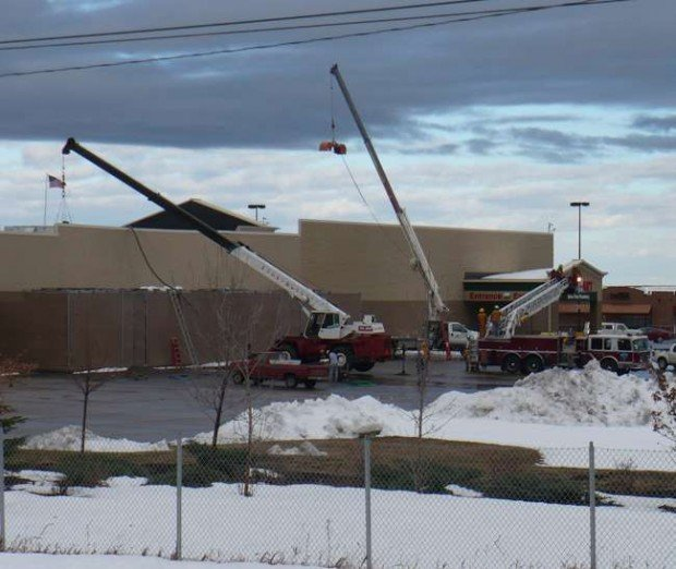 spearfish wal mart roof collapses