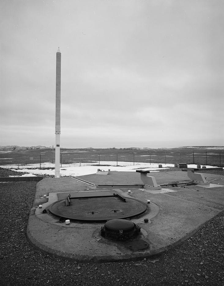 Personnel access hatch at missile silo site