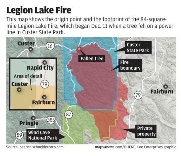 Legion Lake Fire Map Rapidcityjournal Com