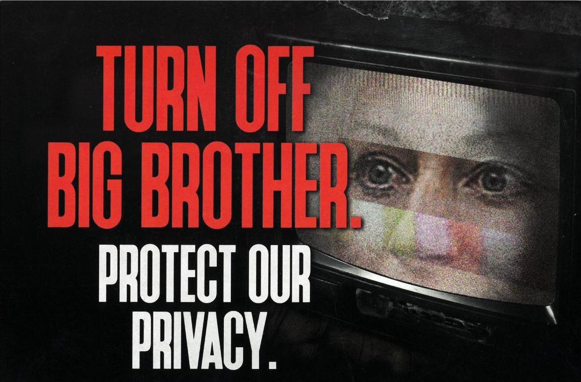 'Big Brother' anti-Krebs postcard
