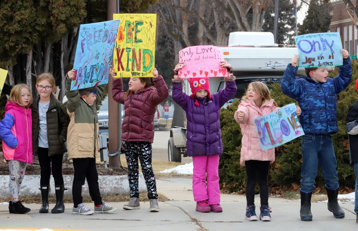 "Hamilton first graders celebrate Martin Luther Kings Day sharing ""love and kindness"""
