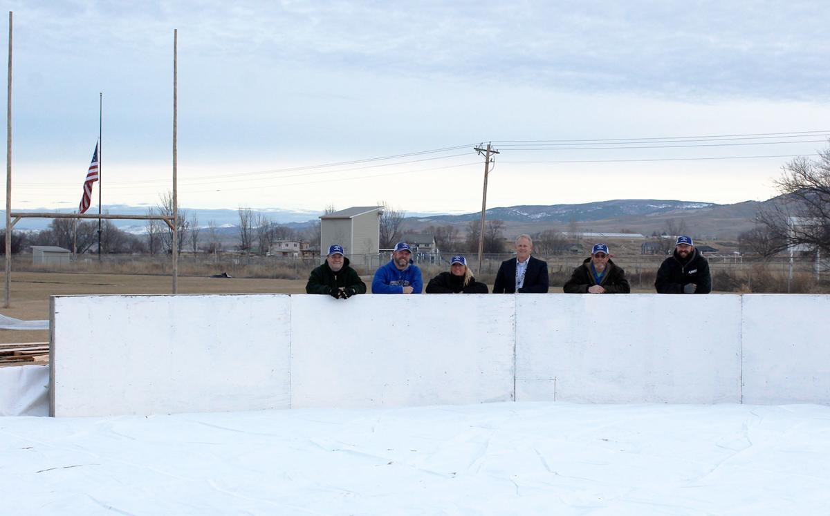 Volunteers Build Outdoor Ice Rink In Corvallis