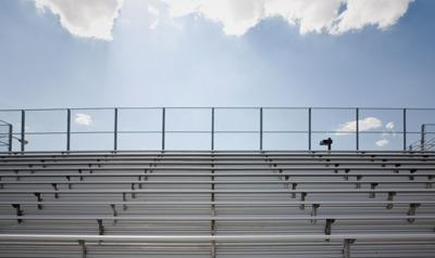 sports bleachers stockimage