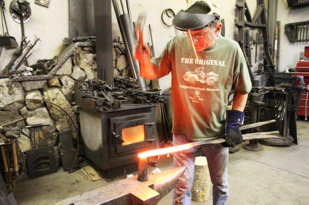 Metal worker: Darby blacksmith creates art out of recycled materials
