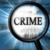 Crime icon magnifying glass