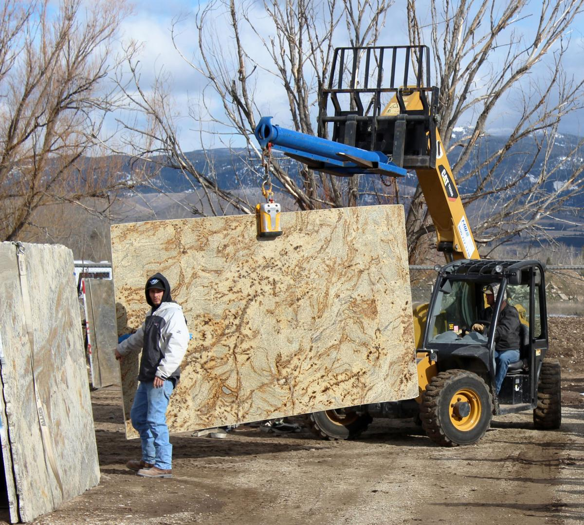 Alpine Granite moving slabs