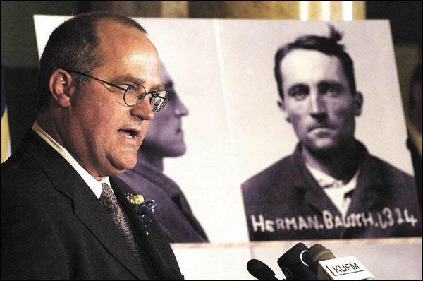 Drew Briner, grandson of Herman Bausch