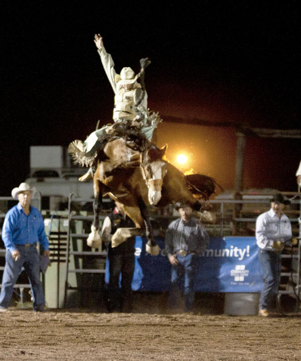 Bronc bustin and barrel burnin: Annual bronc riding and barrel racing event returns to Darby rodeo grounds