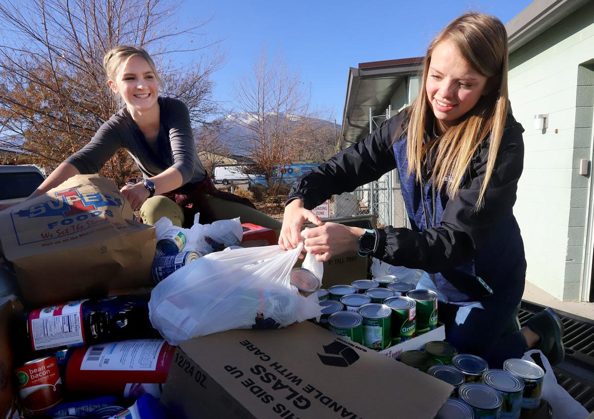 Corvallis High School's Interact Club collects nearly 2,500 pounds of food for Haven House