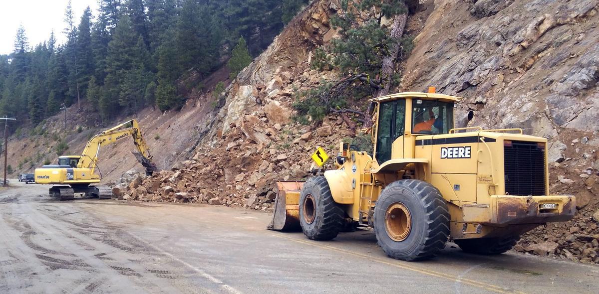 West Fork rock slide