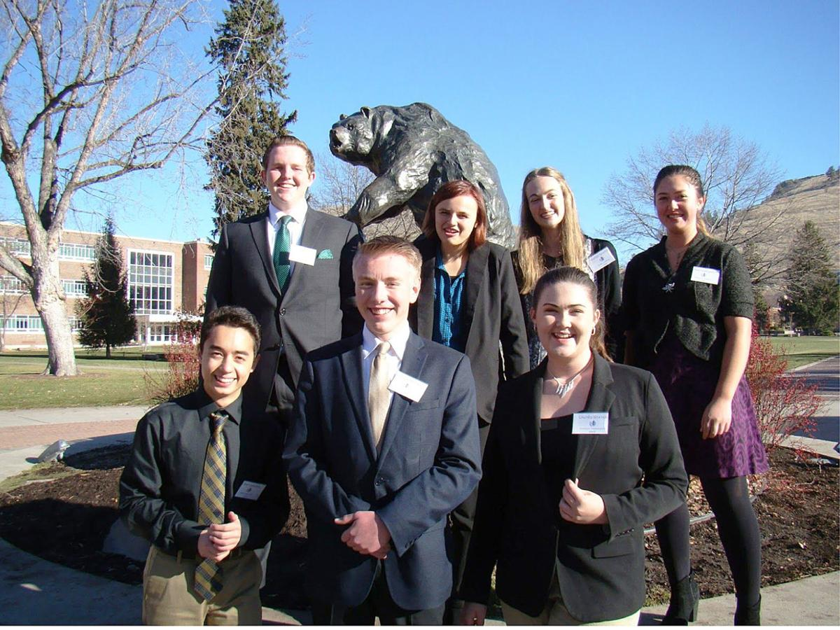 MUN delegation and grizzly