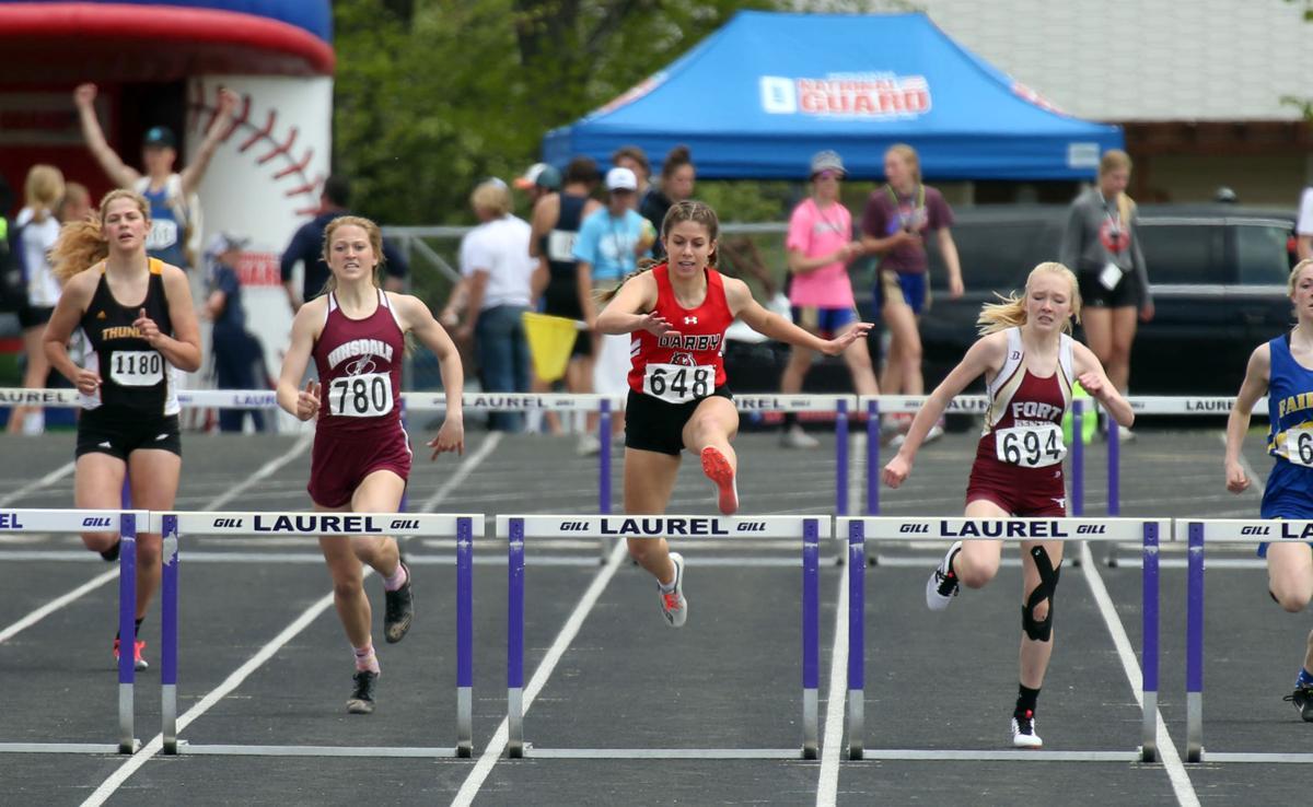 Ehmann wins the 300 hurdles