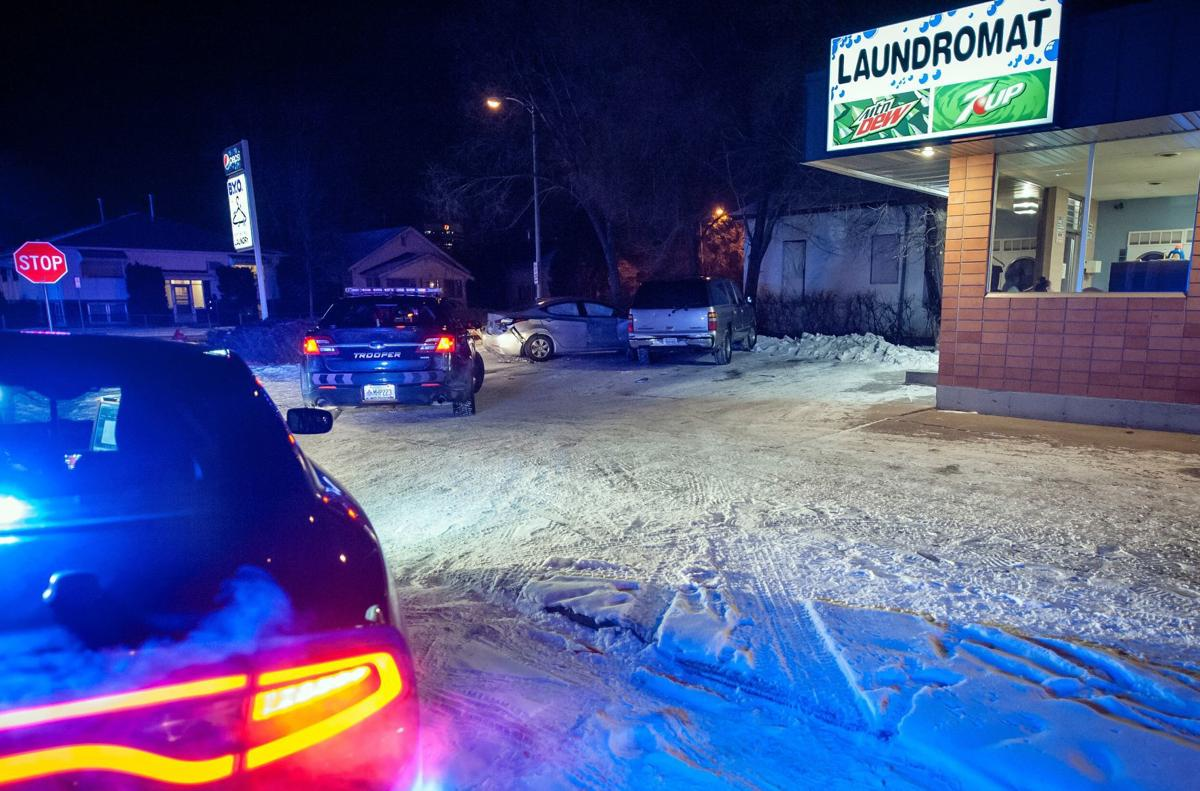Vehicle pursuit ends in the BYO Laundromat parking lot