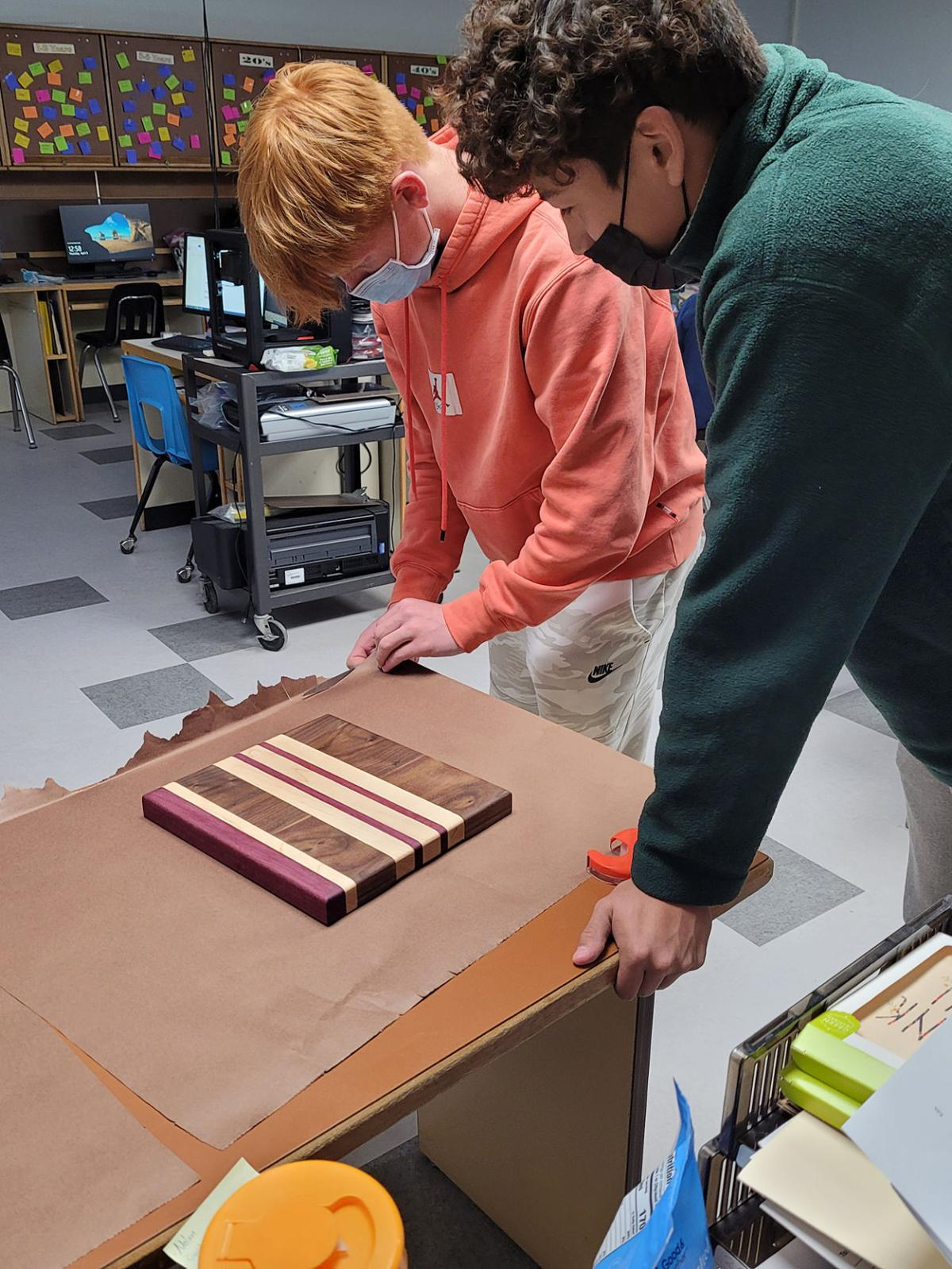 SHS Entrepreneurship class students sell their products