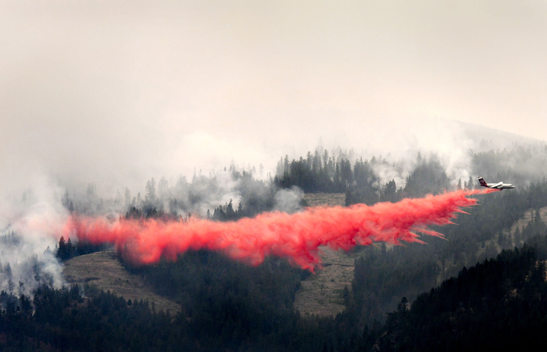Firefighters attack Lolo Peak Fire with everything they have