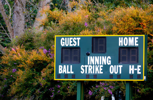 baseball-softball scoreboard stockimage