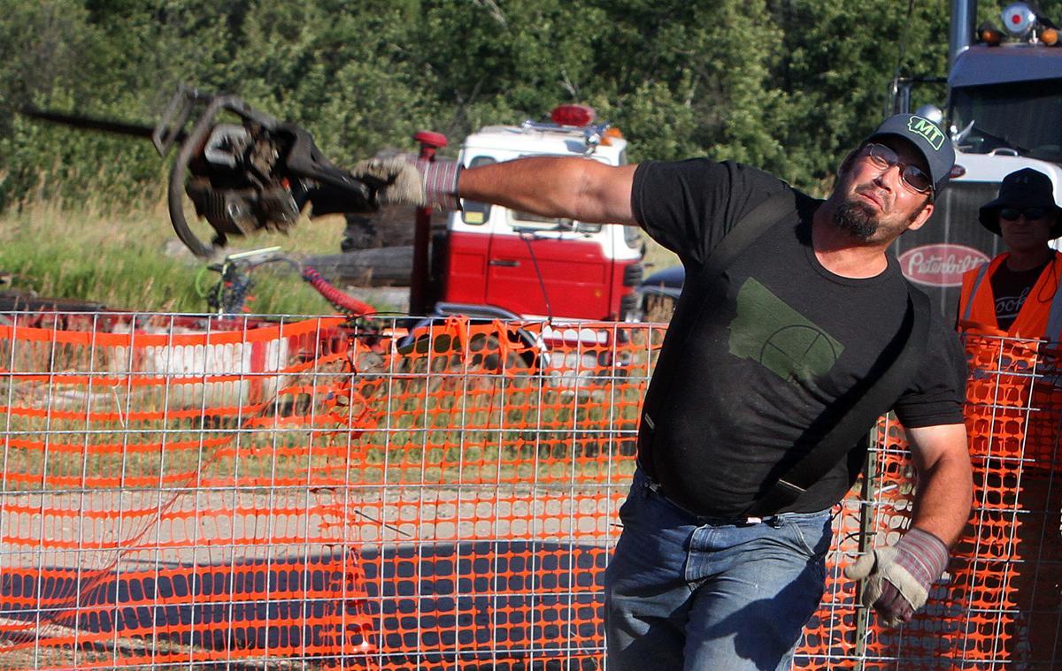 Chainsaw toss