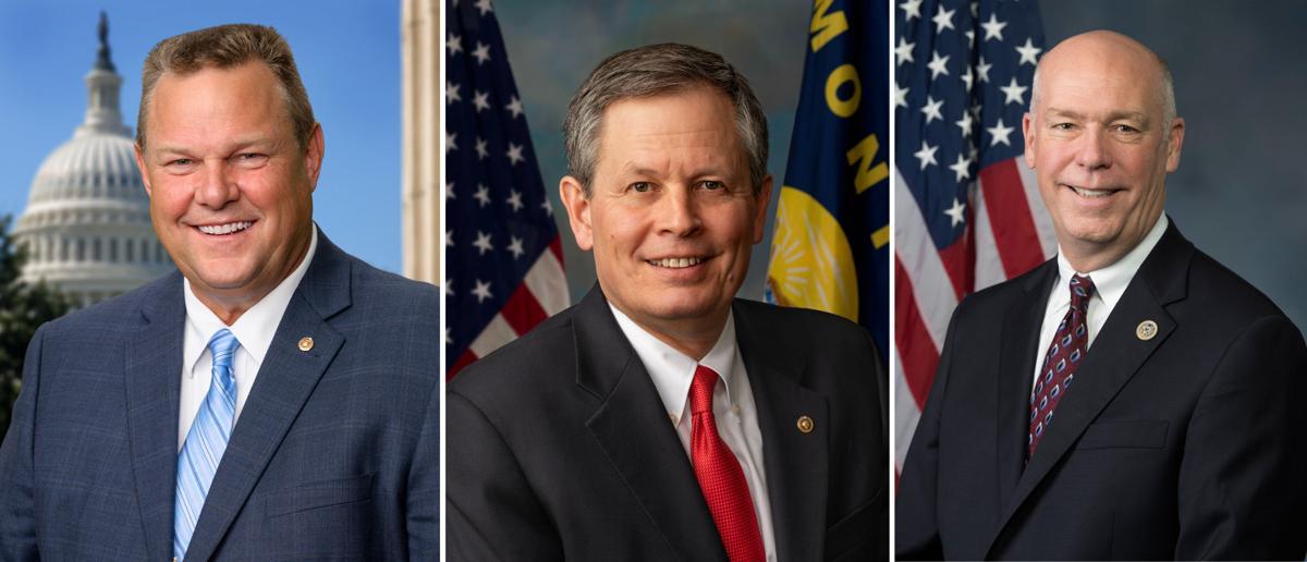 From left, Sen. Jon Tester, Sen. Steve Daines and Rep. Greg Gianforte