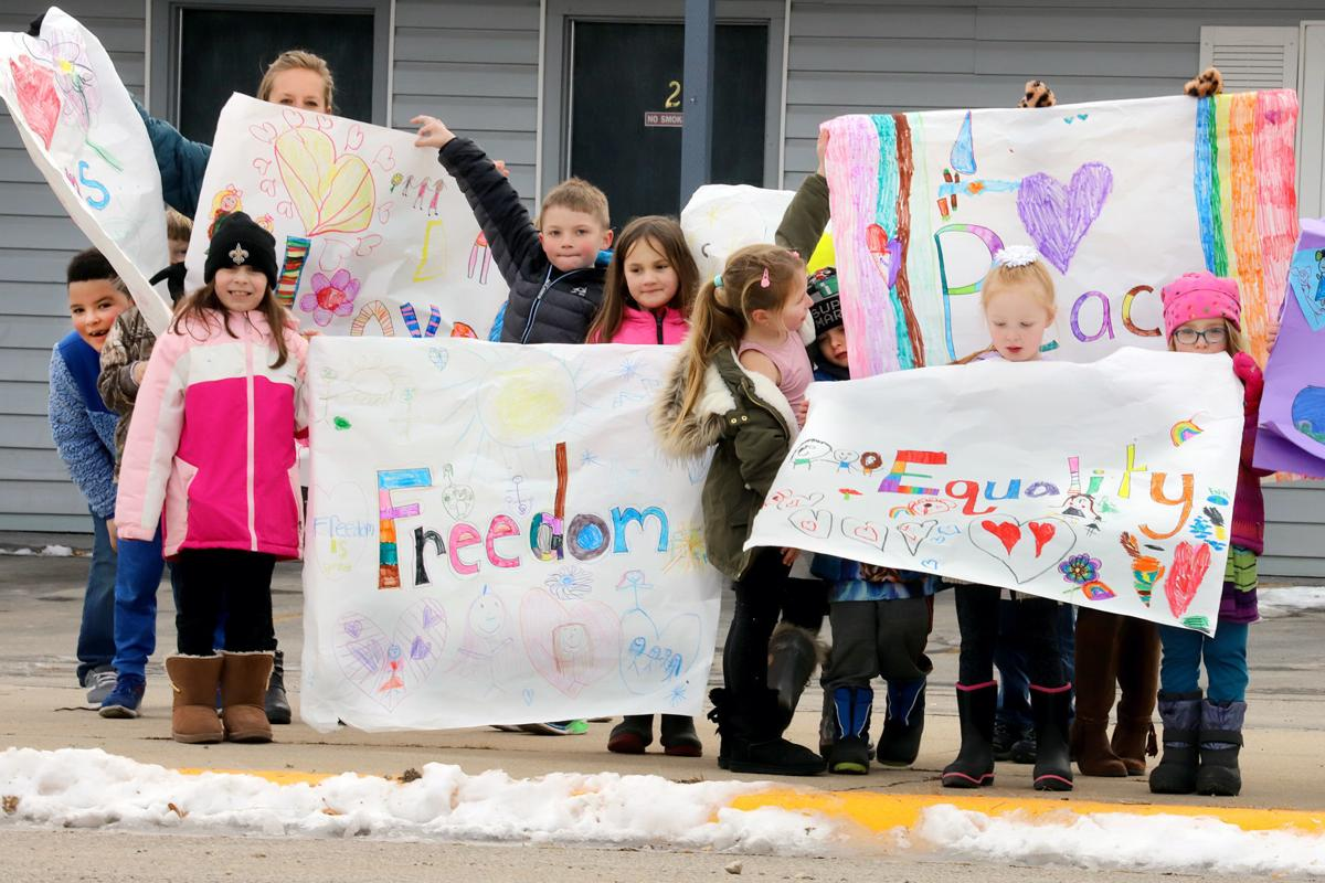 "Hamilton first graders celebrate Martin Luther King Day sharing ""love and kindness"""